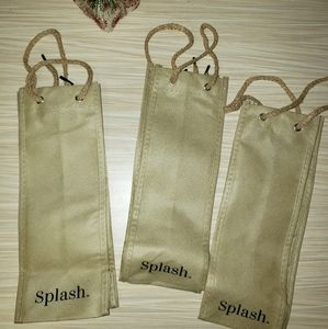 Set of 3 Splash Wine Gift Bags